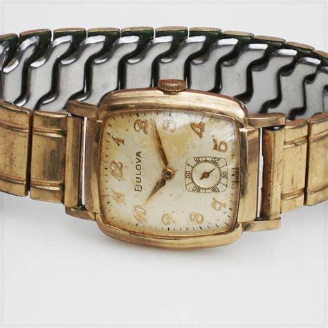 bulova vintage tank watches vintage gold tank style watch 1950s swiss bulova