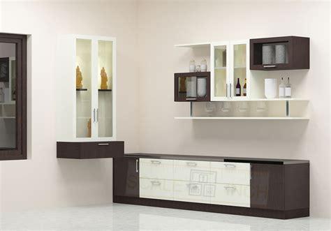 Chizela crockery unit with laminate finish crockery unit pinterest crockery cabinet space