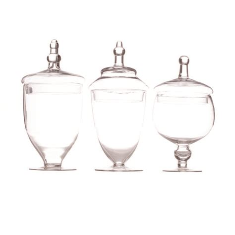 glass apothecary jars set of 3 39 98 koyal wholesale