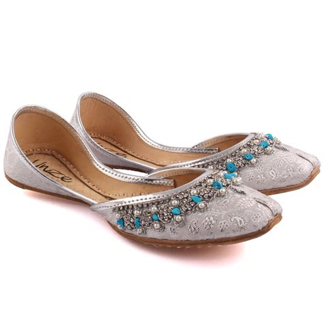 indian flats shoes unze matsya indian khussa slippers uk size 3 8