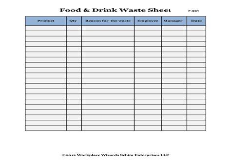 food waste log sheet quotes