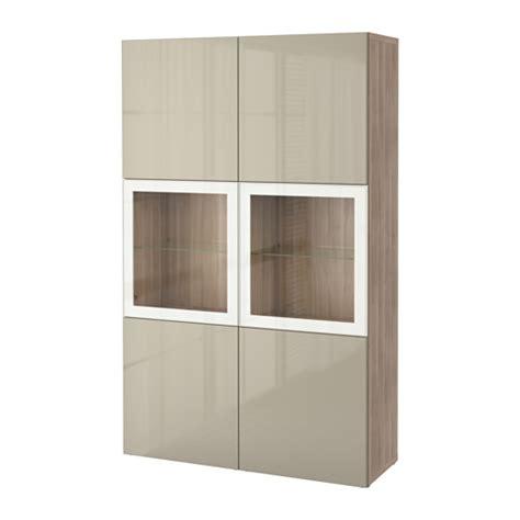 besta planner ikea best 197 storage combination w glass doors walnut effect