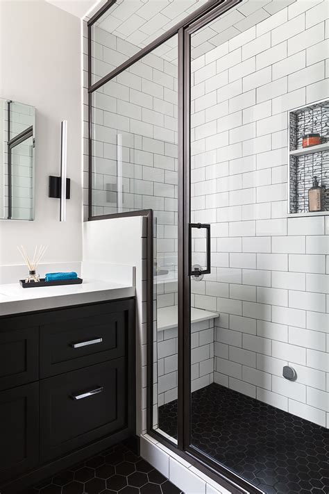 black floor bathroom ideas san francisco bathroom remodel steam shower black hex