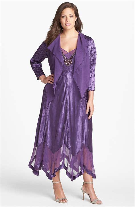 chiffon clothing komarov chiffon trim charmeuse dress jacket in purple