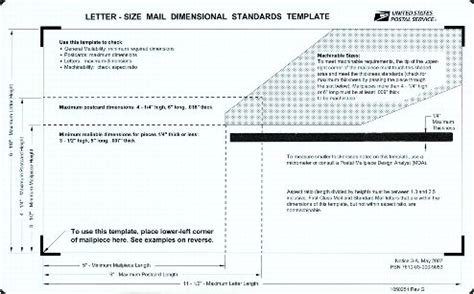 letter size mail dimensional standards template 2007 pricing change resources for postal employees