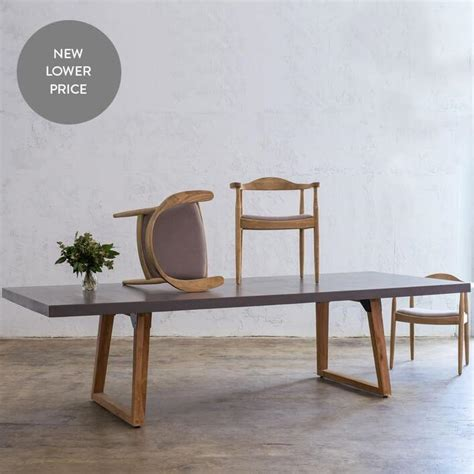 pre order aria concrete granite top dining table