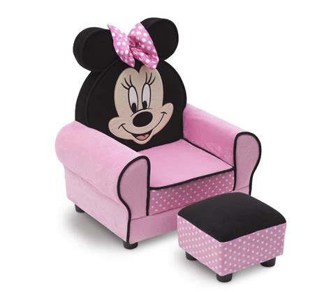 disney minnie mouse toddler sofa chair and ottoman set