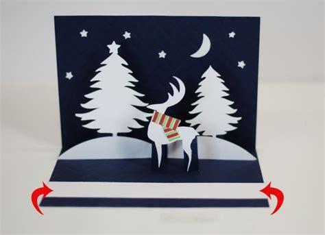 Reindeer Pop Up Card Template by A Winter Pop Up Card You Ll Reindeer