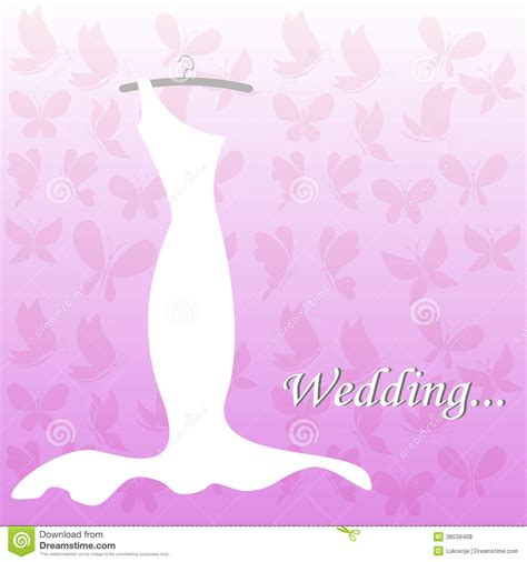 bridal shower invitations backgrounds wedding dress bridal shower stock vector image 38539408