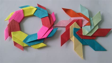 Circle Origami Paper - origami cool origami toys and figures origami