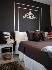 bedroom wall painted headboard ideas with diy decoration