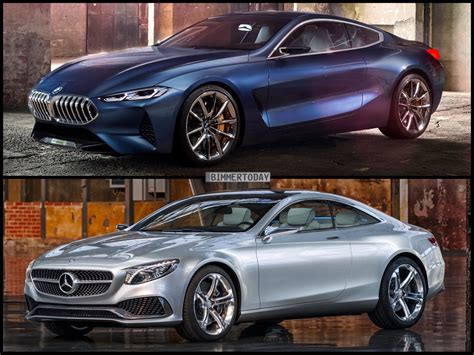 photo comparison bmw 8 series concept vs mercedes s