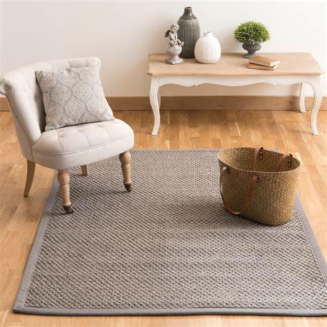 tappeti in sisal tappeto intrecciato grigio in sisal 140 x 200 cm bastide