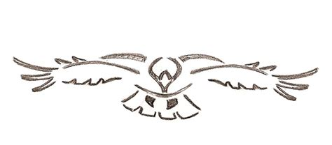 hawk tribal tattoo tribal hawk flying design