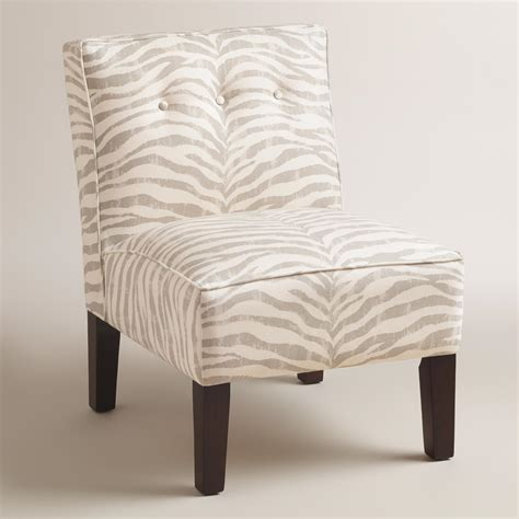Gray Upholstered Chair by Gray Print Randen Upholstered Chair With Wood Legs World