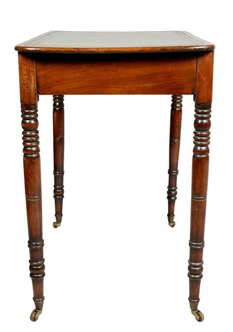 Regency Mahogany Small Writing Table For Sale At 1stdibs Small Writing Desks For Sale