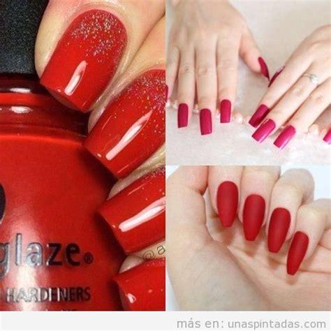 imagenes de uñas pintadas de color rojo u 241 as pintadas de rojo 30 modelos de u 241 as que te