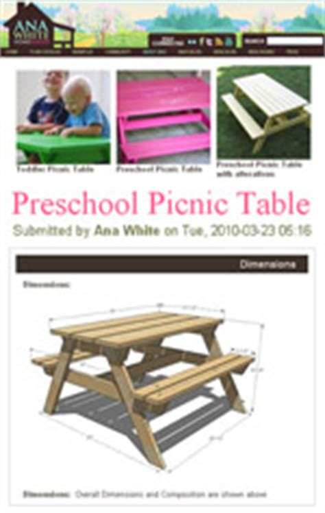 toddler table plans picnic table plans how to build a picnic table