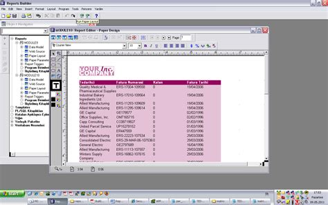 Run Web Layout Oracle Reports | oracle uygulamaları oracle reports 1 giriş