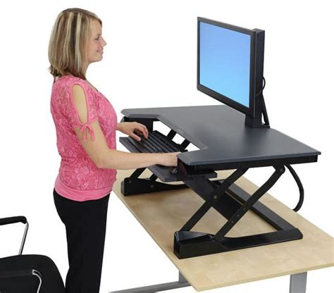 best sit stand desk ergotron workfit t sit stand desktop workstation ask