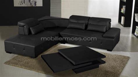 canape d angle cuir noir photos canap 233 d angle cuir noir