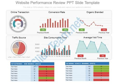 Website Performance Review Ppt Slide Template Powerpoint Templates Download Ppt Background Customer Review Website Template