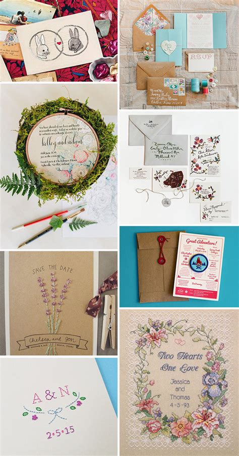 Where To Find Wedding Invitations by An Enchanting New Trend Embroidered Wedding Invitations