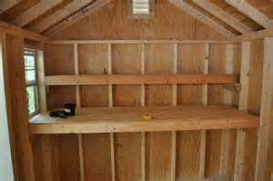 building shed shelves slp