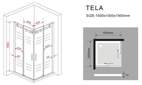 schiebetür 100 cm duschkabine tela 100 x 100 x 195 cm ohne duschtasse