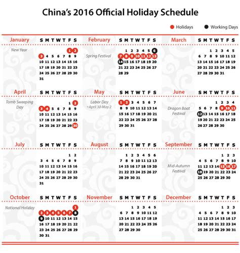 china announces 2016 official holiday schedule china