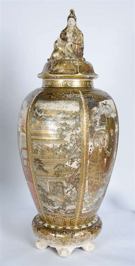 large pair of antique satsuma vases for sale at 1stdibs