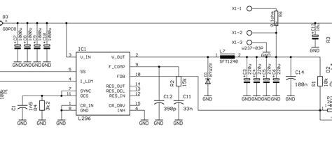 Power Supply Switching Modulr Oscilator Gacun switching power supply regulator 0 40v 4a by l296 electronic circuits schematics diagram