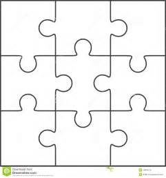 Blank Jigsaw Template by Jigsaw Puzzle Blank Template 3x3 Stock Illustration