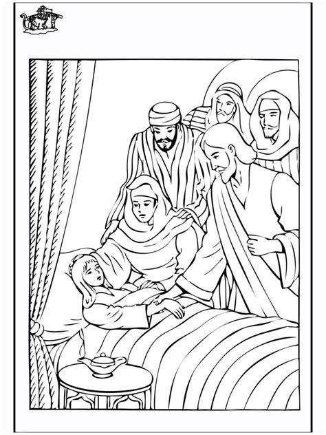 coloring pages jesus heals jairus jairus 4 new testament