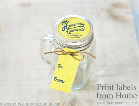 print gift tags at home limoncello print at home labels and tags for homemade mason