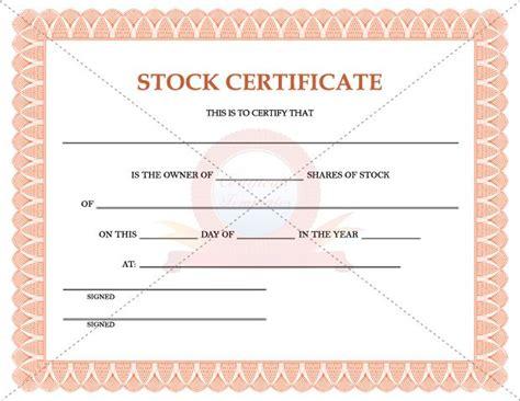 shareholders certificate template stock certificate template stock certificate templates