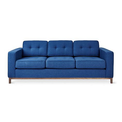 plinth couches jane sofa wood base stockholm cobalt gus modern
