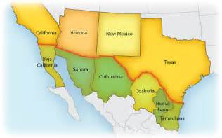 Mexico Usa Border Map by Obryadii00 Map Of Mexico And Usa Border