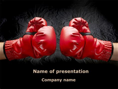 free boxing fight card template boxing gloves powerpoint template backgrounds 08680