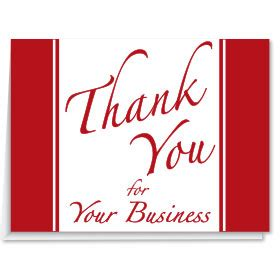 automotive greeting cards business greeting cards thank you for your business cards
