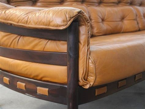 camel color sofa tufted leather camel colored three seat arne norell sofa