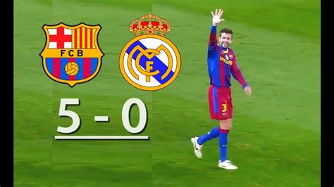 Imagenes De Real Madrid Vs Barcelona | barcelona vs real madrid 5 0 youtube