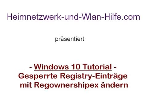 Windows 10 Registry Tutorial | windows 10 tutorial gesperrte registry eintr 228 ge mit