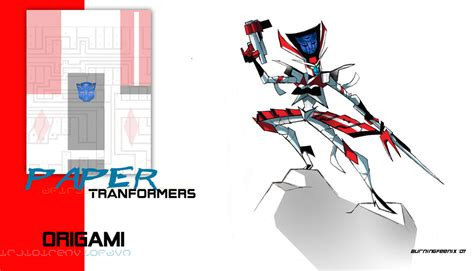 Origami Transformer - paper transformer origami by burningfeenix on deviantart