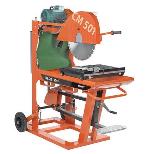 masonry saw bench concrete saws clipper cm501 bench pjc plant services