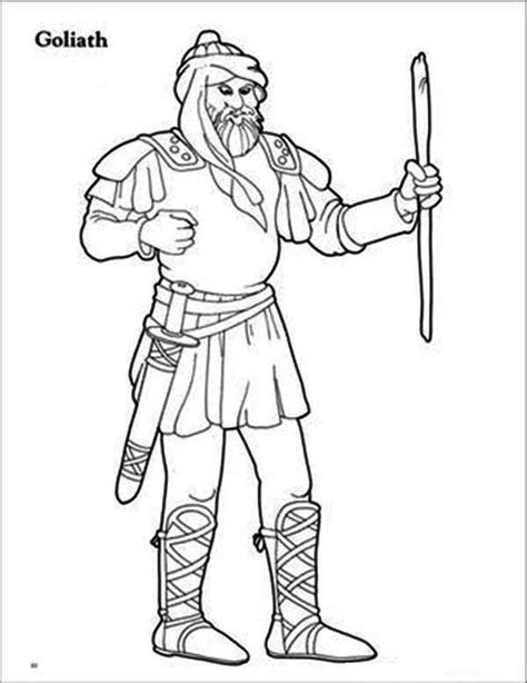 Coloring Page Goliath by 107 Best David And Goliath Images On Story
