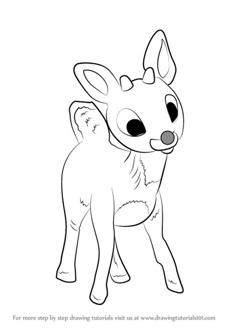 doodle draw reindeer learn how to draw rudolph the nosed reindeer other