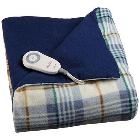 electric couch blanket sunbeam electric heated fleece warming throw blanket