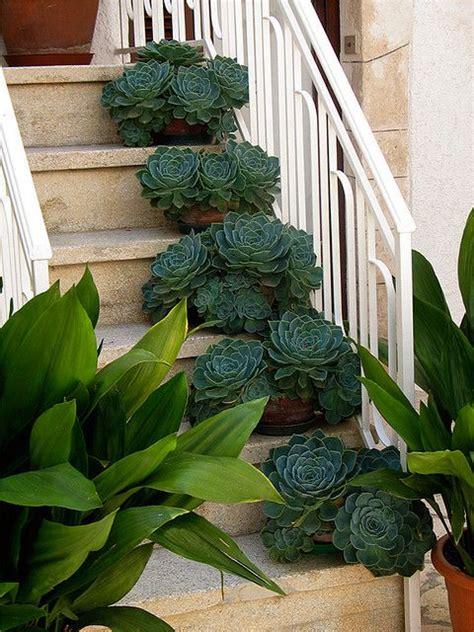 decorazioni con i fiori decorare le scale esterne con i fiori 20 idee creative
