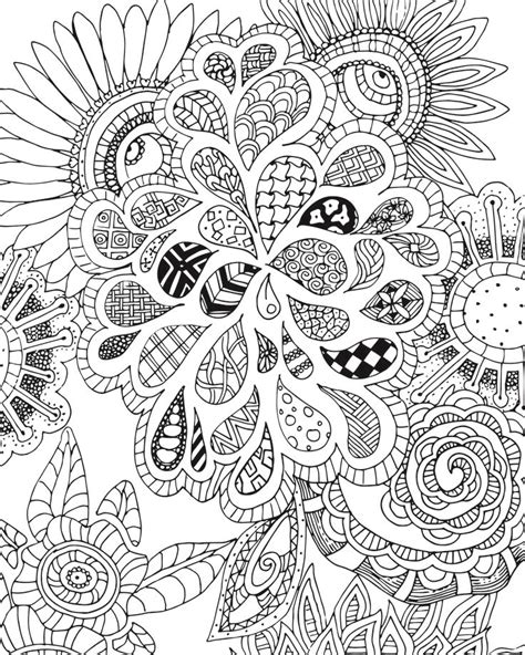 aztec pattern drawings color free flowers and leaves zen tangle coloring page for